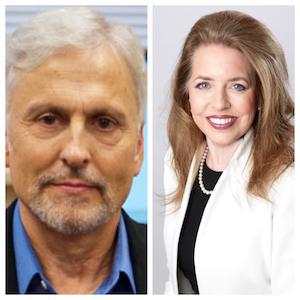 L to R: Allen Buchanan,author; Patricia Peyton, co-author