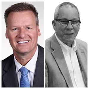 L to R: President Bryan Albrecht; Roger Tadajewski, with NC3.