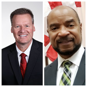 Bryan Albrecht, President of Gateway Technical College (Left); William Martin,  Chief Innovation Officer for the City of Racine (Right)