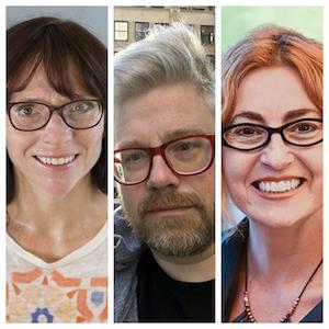 L to R: Carthage Professors - Kimberly Greene, Ryan Miller, and Jojin Van Winkle.