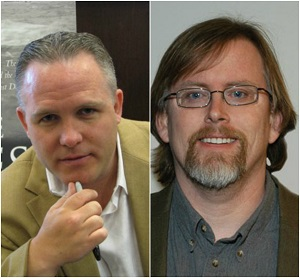 Casey Sherman, Author (Left). Jerry Mast, Associate Professor of Political Science at Carthage (Right)
