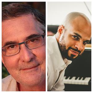 Chris Moschovitis, author (Left); Pianist Barron Ryan (Right)