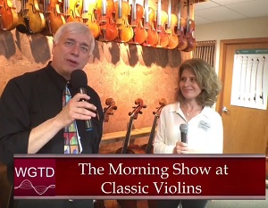 Greg Berg and the Morning Show at Classic Violins