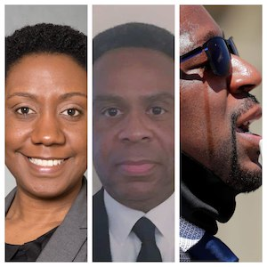 L to R: Angela Cunningham, former prosecutor for the Milwaukee DA's ; Milwaukee County Circuit Judge Milton Childs; and Darren Crawford, a Racine Public Defender.