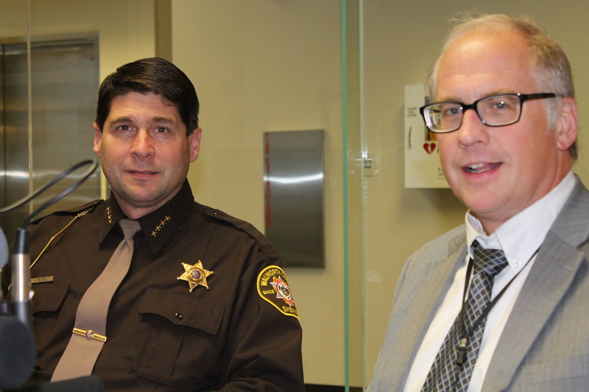 Walworth County Sheriff Kurt Picknell and County Administrator Dave Bretl