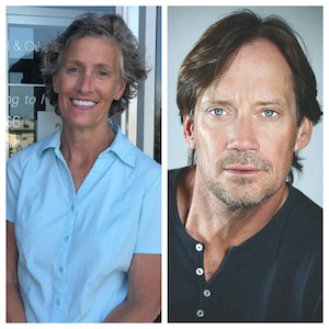L to R: Guida Brown, executive director of the Hope Council on Alcohol and other Drug Abuse: Kevin Sorbo, author and actor