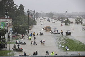 The Devastating Aftermath of Hurricane Harvey that made landfall in Texas