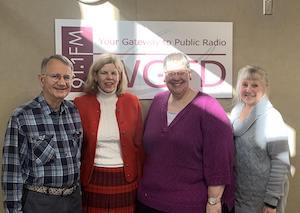From Left to Right: Host Len IaQunita, Rev. Dr. Susan Patterson-Sumwalt, Rev. Kathleen Gloff, Karen Kempinen, Member, CUSH Unsheltered Homeless Task Force