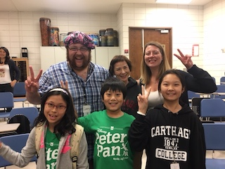 """Members of the Cathage production of """"Peter Pan Jr."""""""