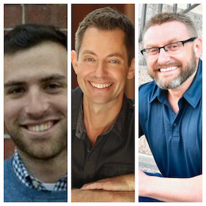 L to R: Jake Fischer, author; Matt Frazier and Robert Cheeke, co-authors