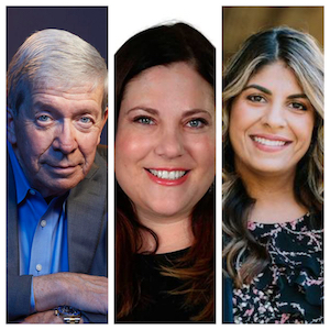 L to R: Joe Kenda, author; Jamie Jacobs and Hema Crockett, co-authors and work culture experts