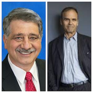 L to R: John Antaramian, Mayor of the City of Kenosha; Scott Turow, author