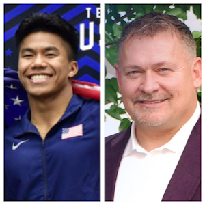 L to R: Jordan Windle, Olympian; Jerry Windle, Jordan's Father