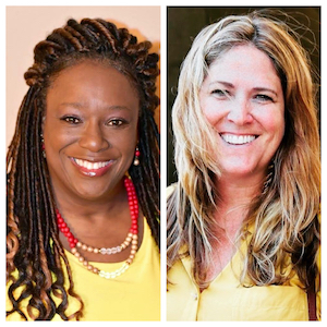 """L to R: Kelly Scroggins-Powell and Mary Mazzeo Pucci; Co-founders of """"Racine Women for Racial Justice"""""""