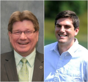 Kenosha County Exeucitve Jim Kreuser (Left); Kenosha Park Director Matt Collins (Right)