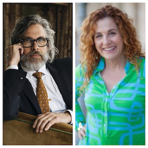 Michael Chabon (Left); Ayelet Waldman (Right)