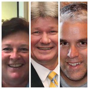 L to R: Nan Calvert, Environmentalist, Jim Kreuser, Kenosha County Executive; Dave Giordano, Executive Director of Root Pike Watershed Initiative