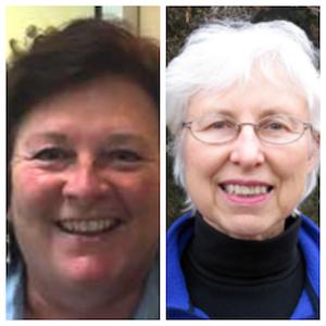 L to R: Mariette Nowak, author; (Left) Nan Calvert, Environmentalist (Right)