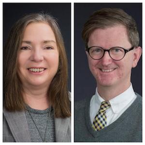 Dr Peggy James (Left),  Dr. Christopher Hudspeth (Right)
