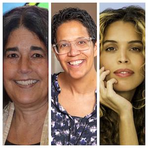 L to R: Rabbi Dena Feingold; Rev. Kara Baylor; and Cleo Wade, author.