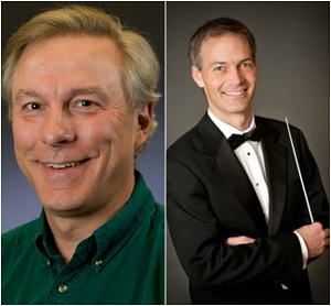 Dr.  James Ripley (Left) and Composer James Stephenson (Right)