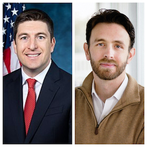 L to R: First District U.S. Congressman Bryan Steil and challenger Roger Polack.