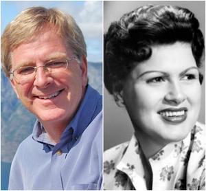 Rick Steves (Left); Patsy Cline (Right)