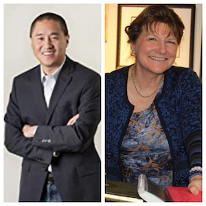 L to R: Ted Yang, author; Elke Scholz, author