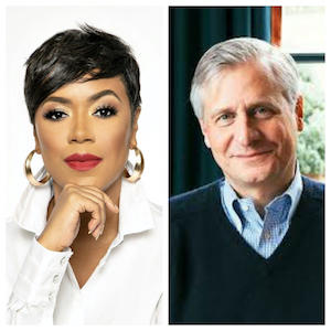 L to R: Tiffany Cross, author and political commentator; Jon Meacham, author and historian