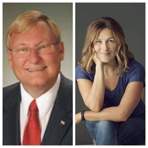 Van Wanggaard (R) - (Left), Lori Hawkins (D) - (Right)