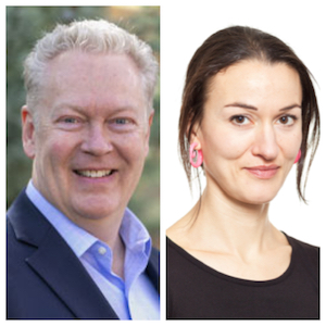 L to R: Jonathan Winkle, Executive Director of the Racine Symphony; Lauren Cochrane, author