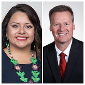Zaida Hernandez-Irisson, a new member of GTC's Board of Trustees (Left), Bryan Albrecht, President of Gateway Technical College (Right)