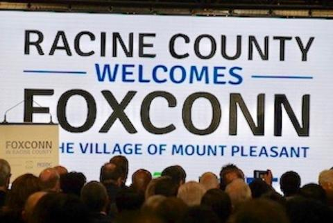 Foxconn announces they plan to open in Mount Pleasant