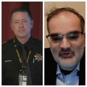 L to R: Racine County Sheriff Richard Schmaling; Dr. David Galbis Rig, Medical Director of Addiction Services at Accession