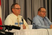 Kenosha County Sheriff Dave Beth on the left, with his opponent, Dave Zoerner, on the right.